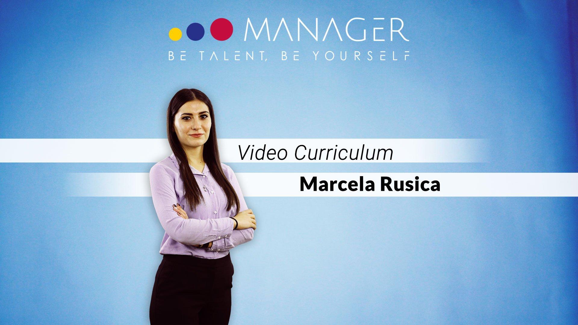 video curriculum marcela rusica