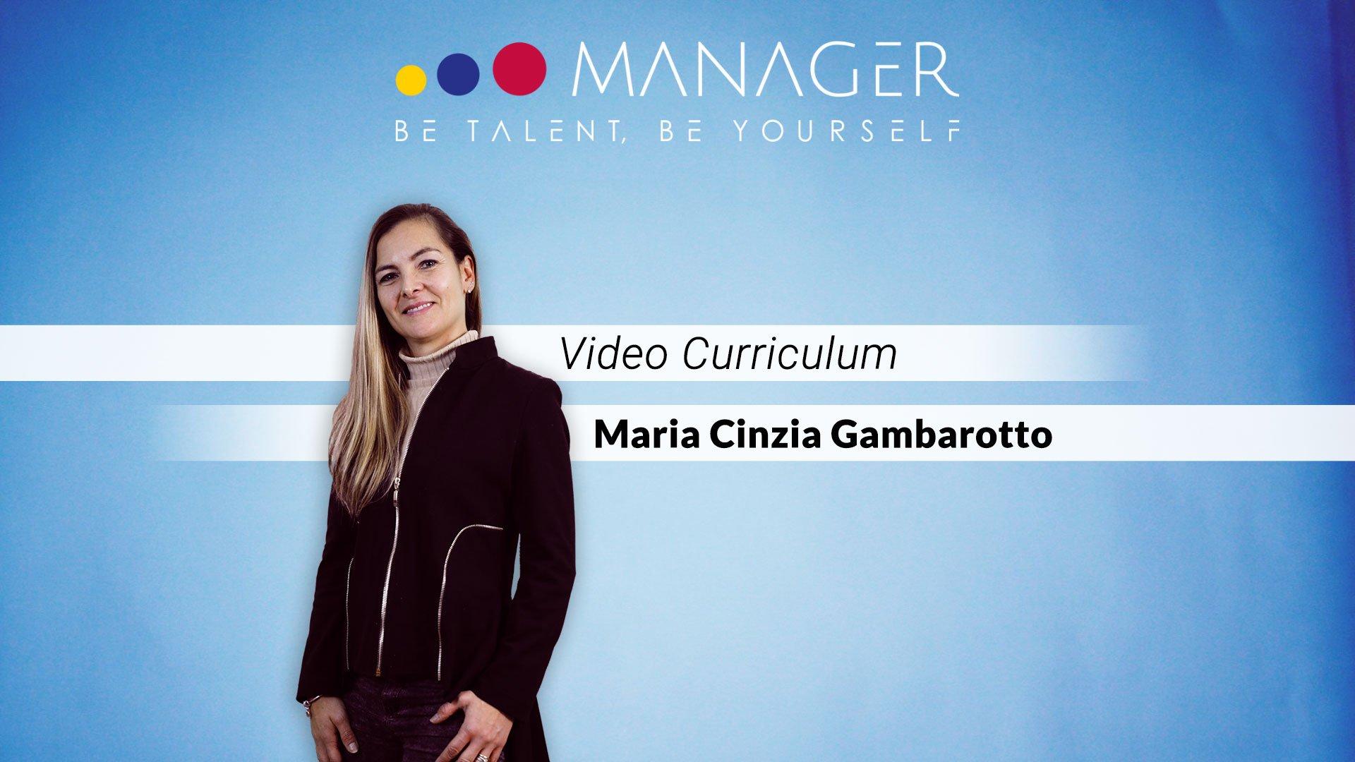 video curriculum cinzia gambarotto