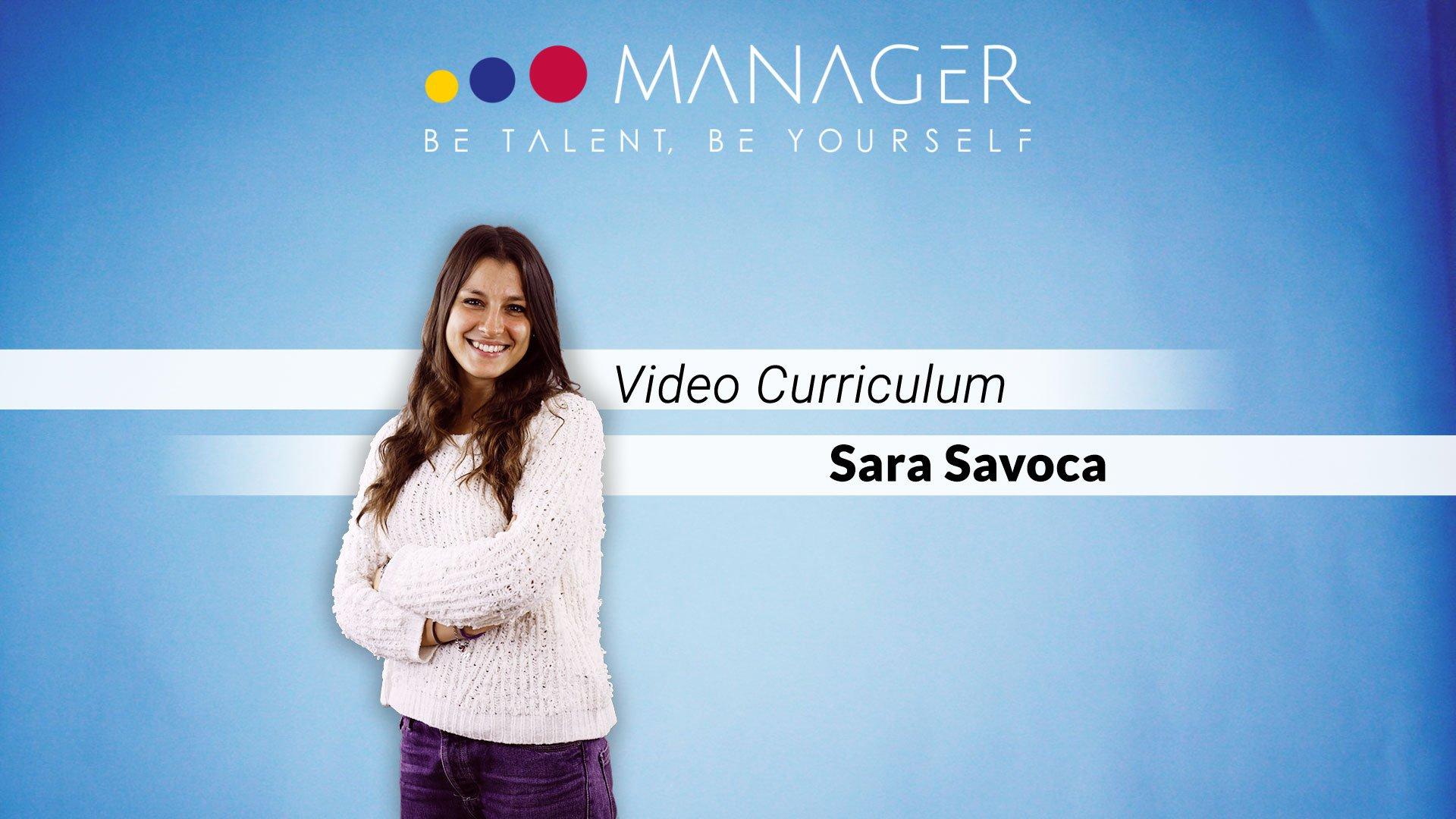 video curriculum sara savoca