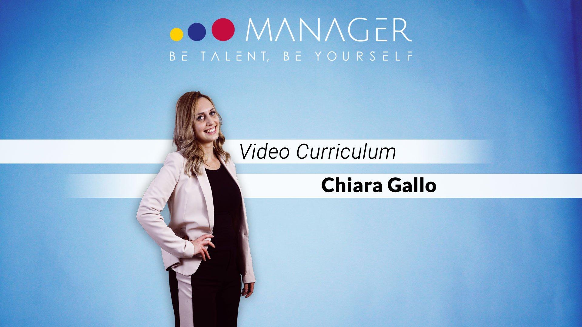 video curriculum chiara gallo
