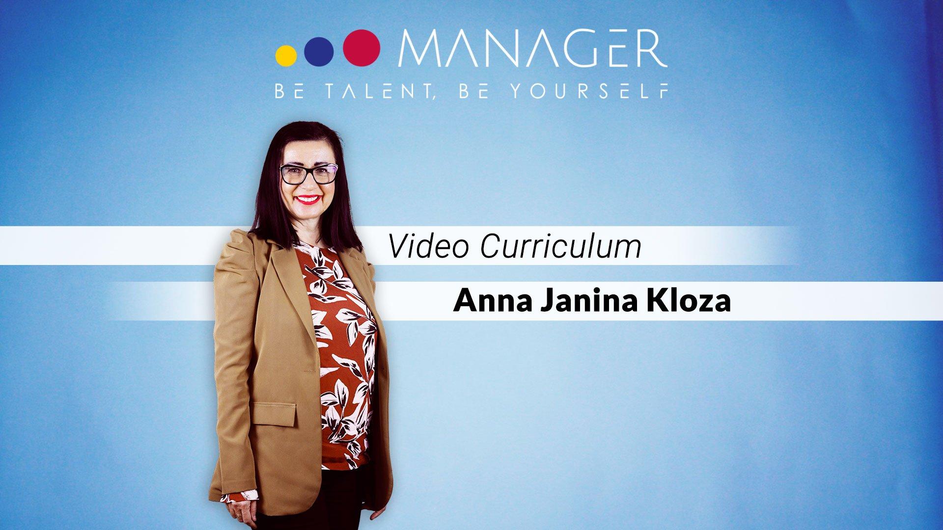 video curriculum anna janina Kloza